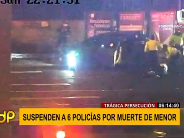 San Miguel: Policías fueron suspendidos por muerte de menor en persecución