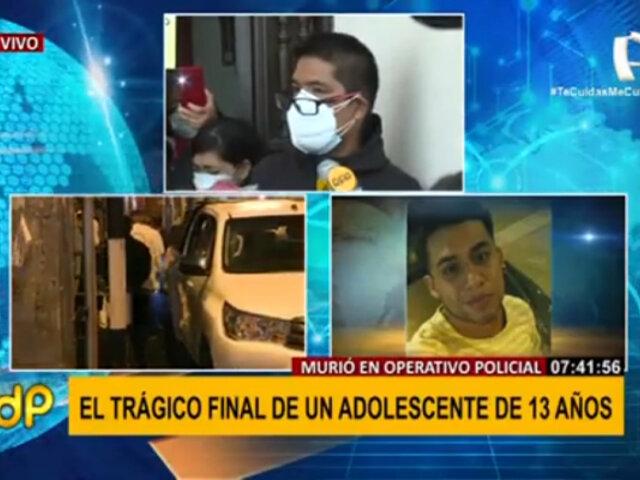 Familia de adolescente fallecido en persecución policial exige investigación y justicia
