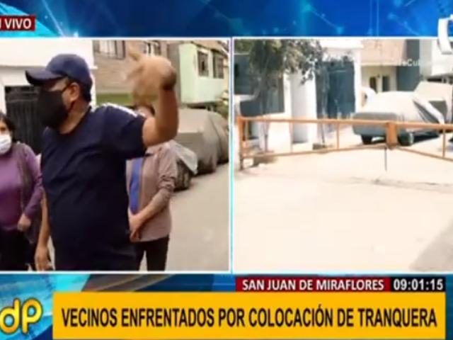 SJM: vecinos siguen enfrentados por colocación de tranquera