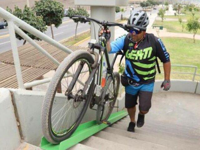 Magdalena: instalan rieles en puentes para facilitar acceso de ciclistas a la Costa Verde