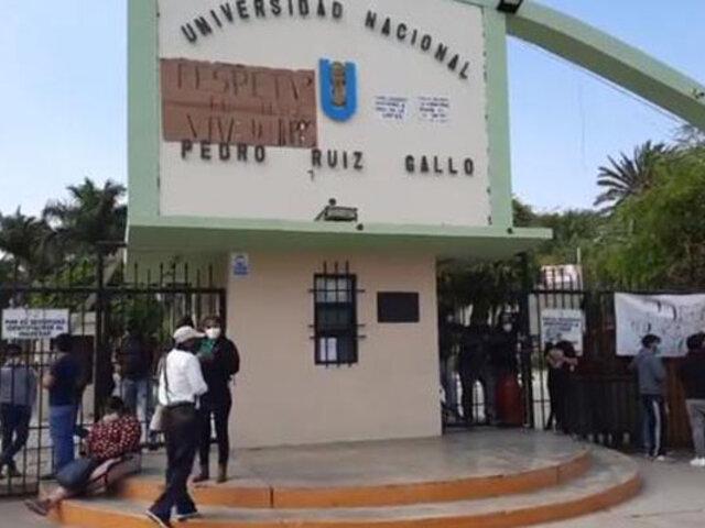 Lambayeque: toman Universidad Nacional Pedro Ruiz Gallo en rechazo a  rector interino