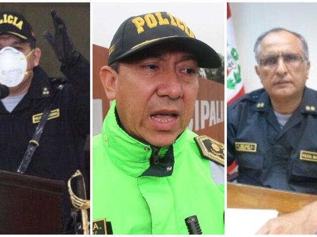 Velasco, Lam y Rojas renuncian tras cambios en la comandancia general de la PNP
