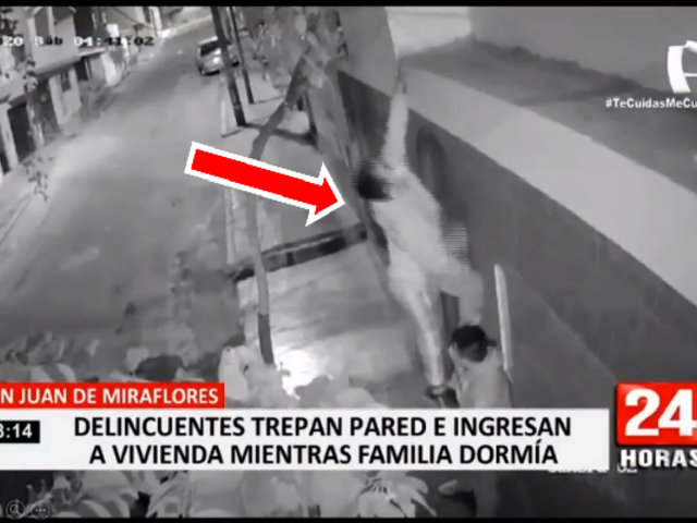 SJM: delincuentes trepan pared e ingresan a vivienda mientras la familia dormía