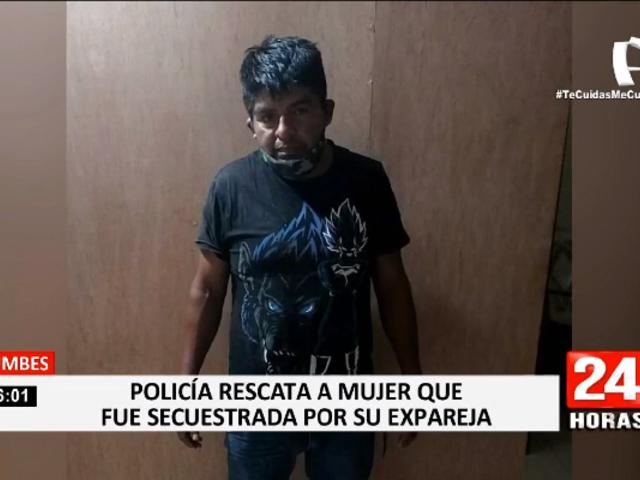 Tumbes: Policía rescata a mujer de 50 años que fue secuestrada por su expareja