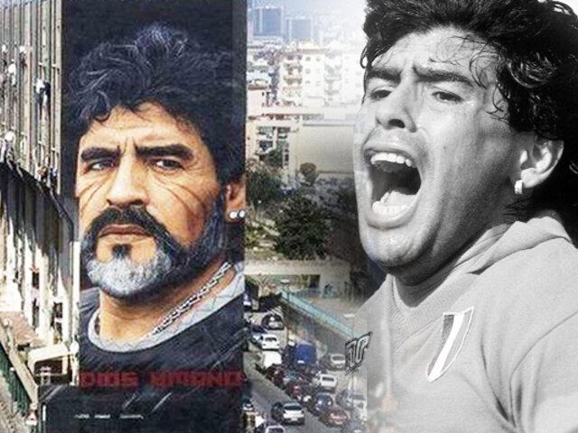 Nápoles también llora la partida de Maradona