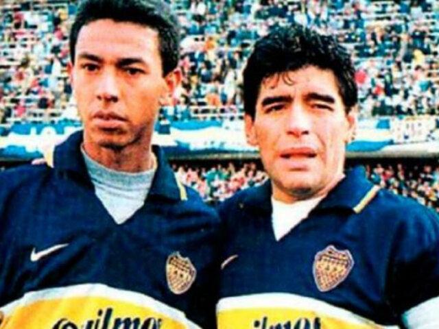"""Solano se despide de Maradona: """"Tuve el honor de jugar al lado del más grande de la historia"""""""