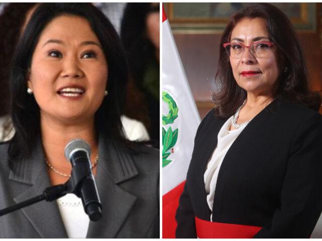 Keiko Fujimori asegura que Fuerza Popular escuchará propuestas del Gabinete Bermúdez