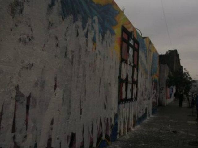 Fuerza Popular rechaza vandalismo contra mural en homenaje a Inti Sotelo y Jack Pintado
