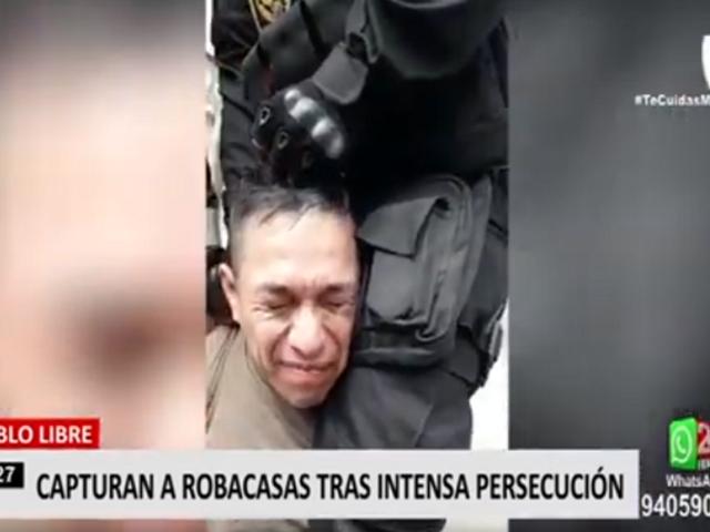 Pueblo Libre: capturan a 'robacasas' tras intensa persecución