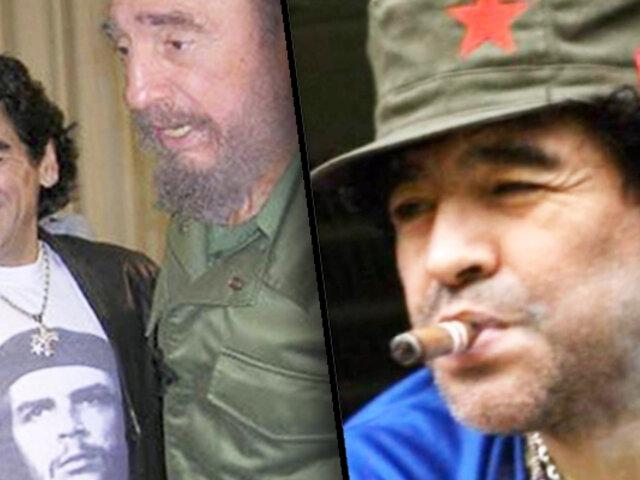 Maradona y su tendencia política fuera de las canchas