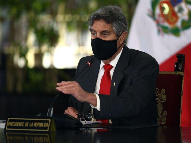 Francisco Sagasti lidera sesión del Consejo de Ministros