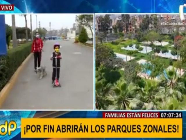 Parques zonales de Lima reabren sus puertas al público