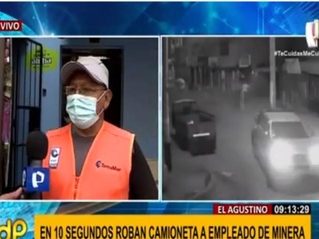 El Agustino: piden apoyo a autoridades para recuperar camioneta robada a trabajador minero