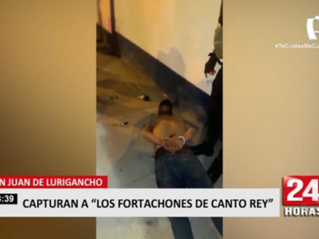 SJL: capturan a 'Los Fortachones de Canto Rey'