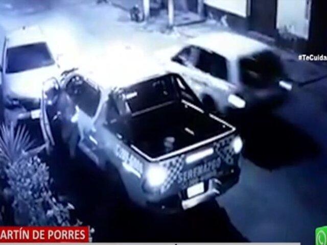 SMP: patrullero choca a vehículo y propietario denuncia que no quieren asumir daños