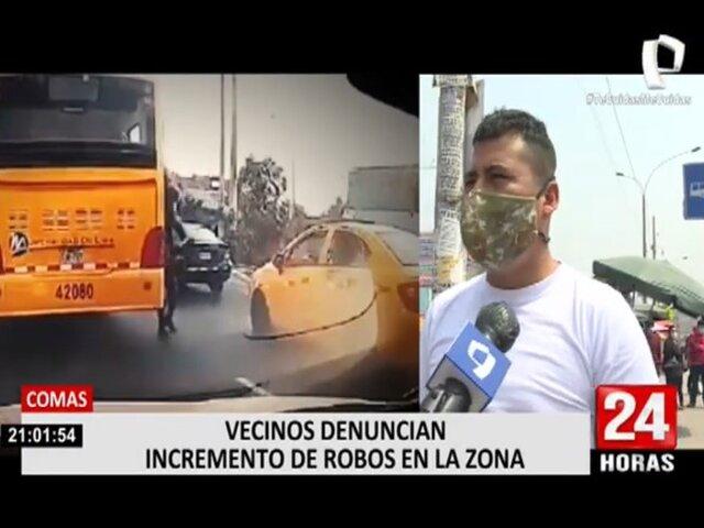 Comas: robos ocurren todo el día en cruce de Velasco con Túpac Amaru, según vecinos