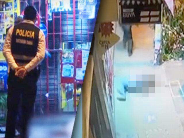 Extranjero fue asesinado a balazos en bodega de Los Olivos