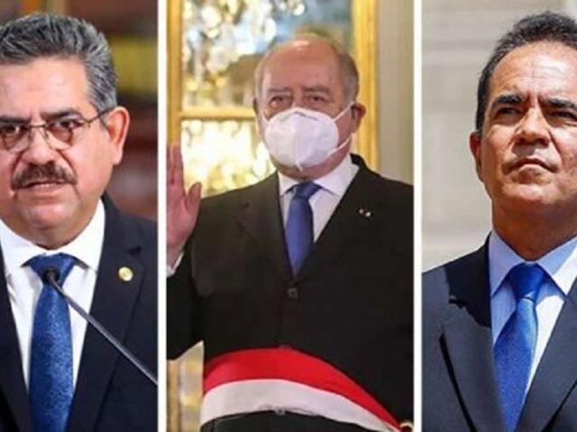 Fiscal de la Nación inicia diligencias preliminares contra Merino, Flores Aráoz y Gastón Rodríguez