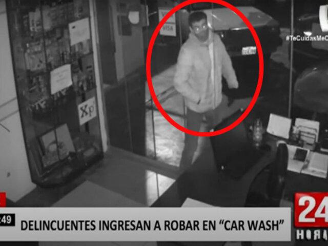 Ate: delincuentes roban 'car wash' durante la madrugada