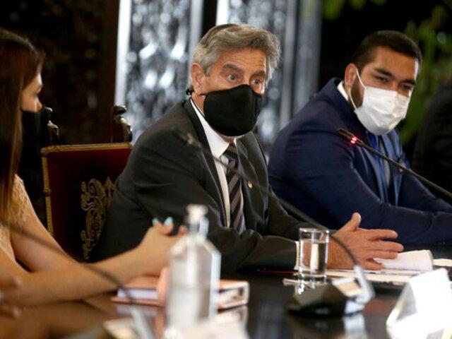 Presidente Sagasti se reunió con representantes de la Asociación de Municipalidades del Perú