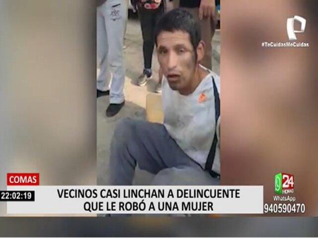Justicia Popular: vecinos de Comas casi linchan a sujeto que habría robado a mujer