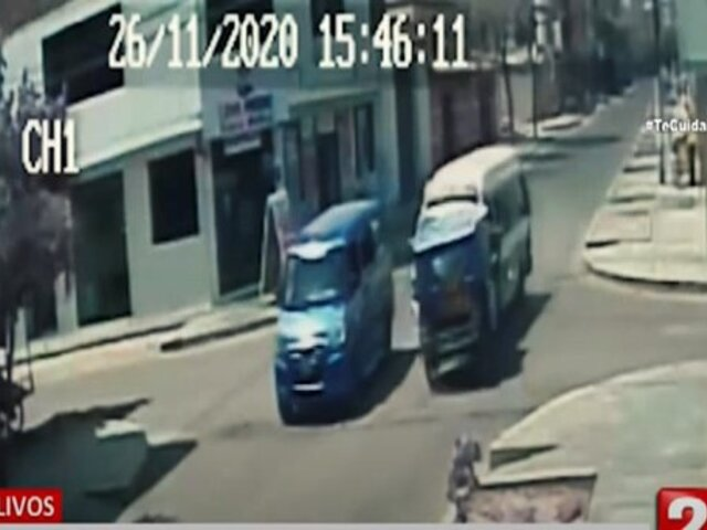 Los Olivos: pasajera de mototaxi necesitará operación tras violento accidente