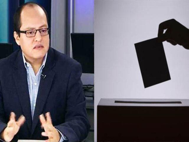 Víctor Quijada: Solo ocho partidos irán a elecciones internas para la designación de candidatos