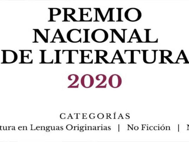 Publican lista de ganadores del Premio Nacional de Literatura 2020
