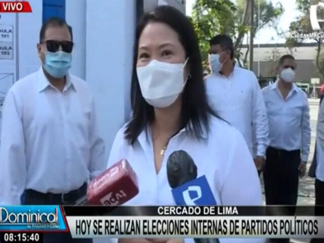 """Keiko Fujimori sobre suspensión de FP: """"Esperamos que no ocurra, esperamos la audiencia"""""""