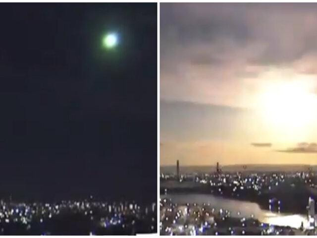 ¡Impactante!: Meteorito atravesó la atmósfera e iluminó el cielo de Japón