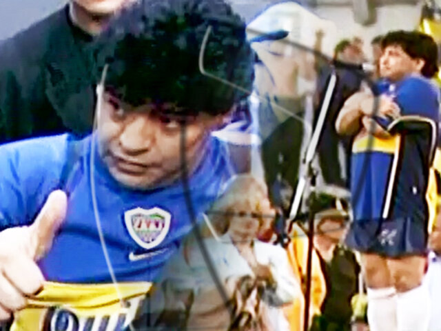 EXCLUSIVO | video inédito de la despedida de Maradona en 2001