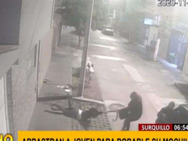 Surquillo: joven fue arrastrada por 'raqueteros' para robarle sus pertenencias