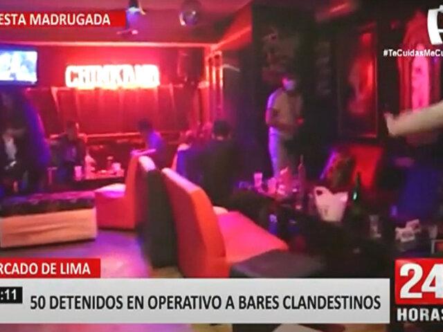 Policía clausura dos bares clandestinos por funcionar durante toque de queda