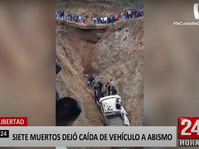 La Libertad: siete fallecidos y once heridos dejó despiste de camioneta