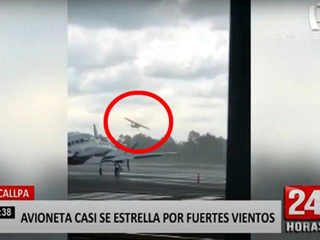 Pucallpa: avión de instrucción casi se estrella durante aterrizaje por fuerte viento