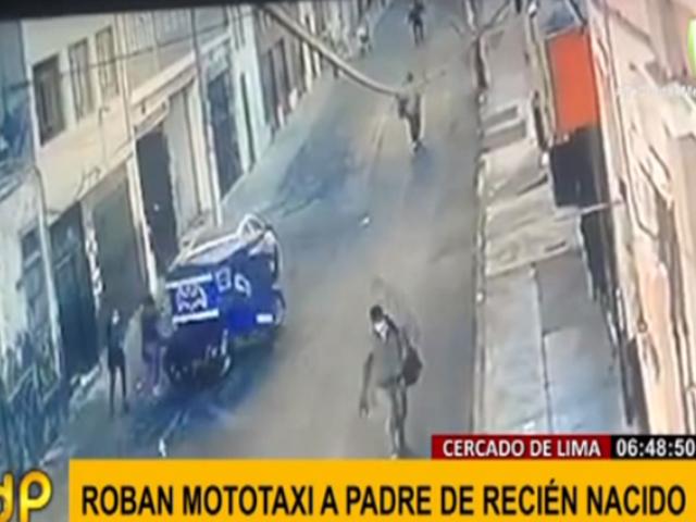 Cercado: roban mototaxi con el que padre de familia sustentaba a su hijo de un mes de nacido