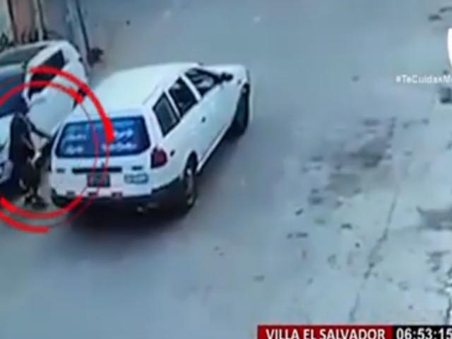 VES: ladrones de autopartes roban espejos en segundos