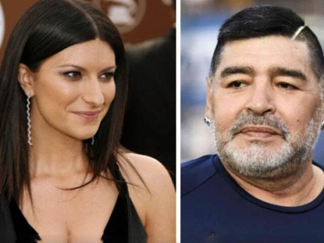 """Laura Pausini tras muerte de Diego Maradona: """"Un hombre poco apreciable"""""""