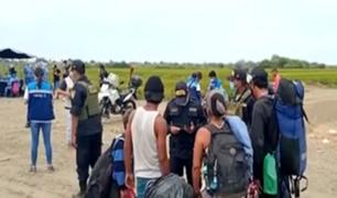 Tumbes: intervienen a 60 extranjeros que ingresaron de forma irregular al Perú