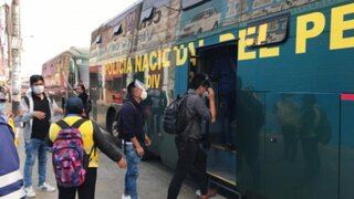 Metropolitano: Policía moviliza a los usuarios afectados por paro