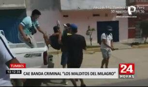 """Tumbes: Policía intervino a banda criminal """"Los Malditos del Milagro"""""""