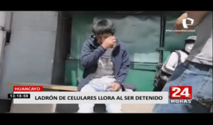 Huancayo: ladrón lloró al ser detenido por robar celulares