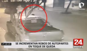 Surquillo: incrementan los robos de autopartes durante el toque de queda