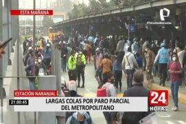 Caos y aglomeraciones: Así se vivió el paro parcial del Metropolitano