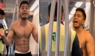 San Borja: extranjero sin mascarilla ni polo se enfrenta a inspectores del Metro de Lima