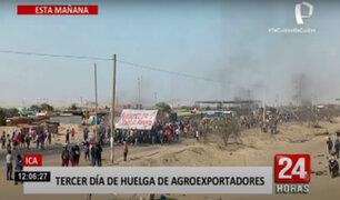 Paro de agroexportadores: marchas continuaron en su tercer día