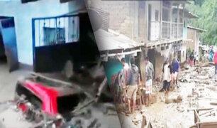 Jaén: varias viviendas quedaron destruidas por caída de huaico