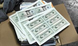 Carabayllo: incautan más de US$ 6 millones falsos que iban a ser enviados al extranjero
