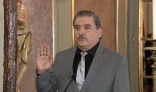 Cluber Aliaga Lodtmann juró como nuevo titular del Ministerio del Interior