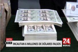 Breña: Policía incauta 6 millones de dólares falsos